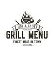grill menu emblem template steak house restaurant vector image vector image