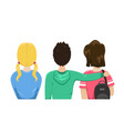 group friends is back students are friends vector image vector image