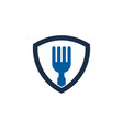 guard food logo icon design vector image vector image