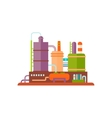 Industrial Factory Buildings vector image