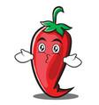 kissing red chili character cartoon vector image vector image