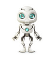 little cute robot mascot innovation scifi vector image vector image