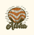 logo design aloha with shells vintage vector image vector image