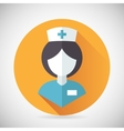 Medical Treatment Nurse Symbol Female Physician vector image