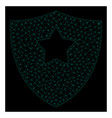 mesh guard shield in polygonal 2d style vector image