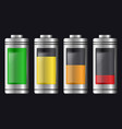 metal with glass batteries set of various types vector image vector image