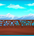 mountain views from the balcony with ornate vector image