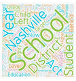 Nashville Schools Release Data and Makes Plans for vector image vector image