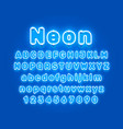 neon city color blue font english alphabet sign vector image