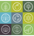 organic logo outline set vector image vector image