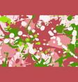 pink green red white ink splashes camouflage vector image vector image