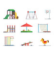 playground equipment fun area for kids vector image