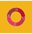 Puzzle icon design vector image vector image