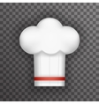 Realistic 3d Chief Cook Symbol Toque Cuisine Food vector image vector image