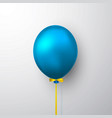 realistic blue balloon with shadow shine helium vector image