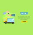 renting truck online car sale web banner vector image vector image