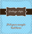 Retro greeting card template design vector image