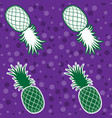 seamless background tropical fruit pineapple vector image vector image
