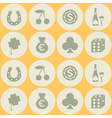 Seamless background with symbols of gambling vector image