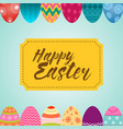 seamless up and down easter decorative eggs vector image