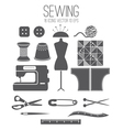 set icon of sewing vector image