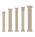 set of column 2 vector image