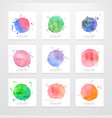 set of logos abstract backgrounds with watercolor vector image
