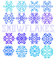 Set of seamless textures with snowflakes vector image vector image