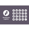 Set of warehouse logistics simple icons vector image vector image