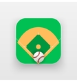 Square icon of baseball sport vector image vector image