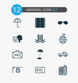 travel icons set collection of travel direction vector image vector image