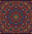 tribal indian flower ethnic seamless design vector image vector image