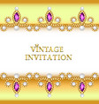 vintage background elegant antiques victorian vector image