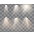 warm light set on a transparent vector image vector image