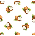 Watercolor pattern of fruit coconut vector image vector image