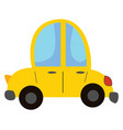 yellow car hand drawn design on white background vector image