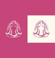 yoga logo girl sitting in lotus position spa vector image vector image