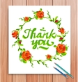 Hand drawn thank you card Typography and vector image