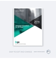 Abstract cover design template for annual report vector image vector image