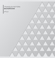abstract gray triangles pattern on white vector image vector image