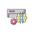 ac repair service rgb color icon