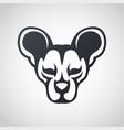 african wild dog logo icon design vector image vector image