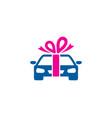 automotive gift logo icon design vector image