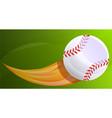 baseball fireball concept banner cartoon style vector image vector image