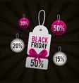 black friday shopping sales vector image vector image