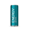 bright energy drink can vector image vector image