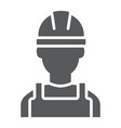 builder glyph icon engineer and man vector image