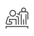 business training icon vector image vector image