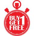 Buy 1 get 1 free red stopwatch vector image vector image