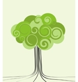 Card with stylized tree vector image vector image